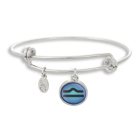 The Adjustable Band Bangle Bracelet featuring the color pop Libra astrology sign shows that your style is in the stars!