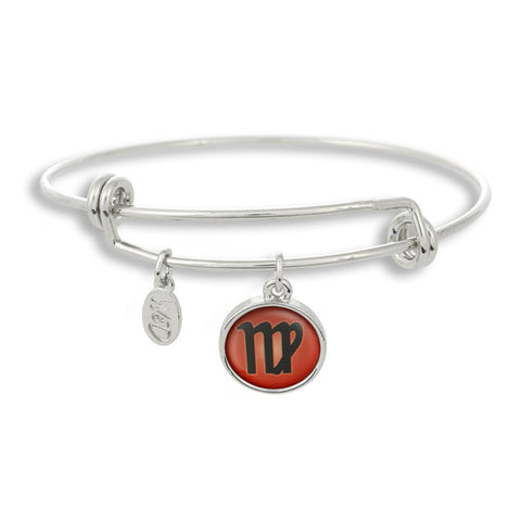The Adjustable Band Bangle Bracelet featuring the color pop Virgo astrology sign shows that your style is in the stars!