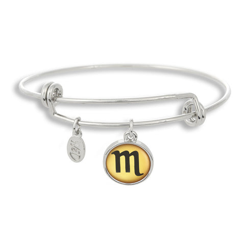 The Adjustable Band Bangle Bracelet featuring the color pop Scorpio astrology sign shows that your style is in the stars!