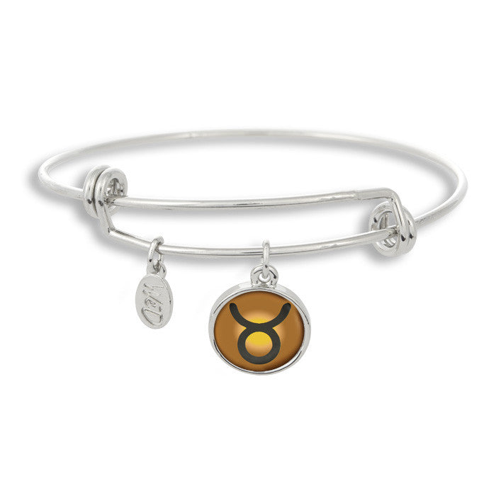 The Adjustable Band Bangle Bracelet featuring the color pop Taurus astrology sign shows that your style is in the stars!