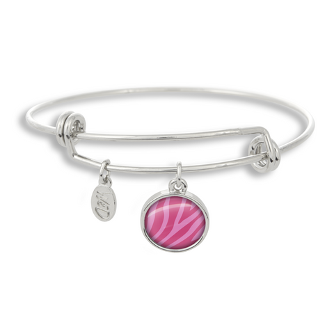 Zoolander Pink Zebra Adjustable Bangle Bracelet