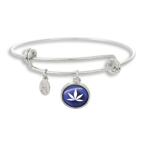 Cannabis Icon-O-Pop Collection Adjustable Bangle Bracelet (MaryJ Blue)