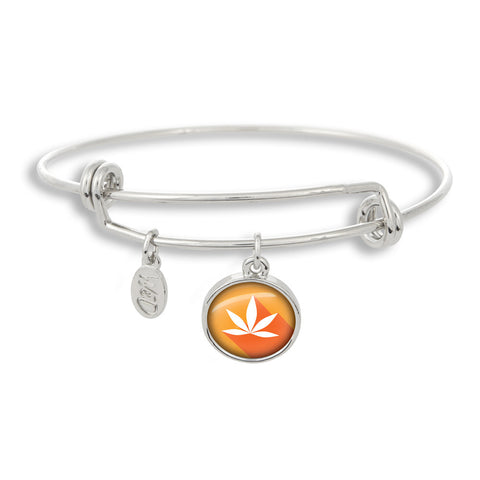 Cannabis Icon-O-Pop Collection Adjustable Bangle Bracelet (MJ Mandarin)