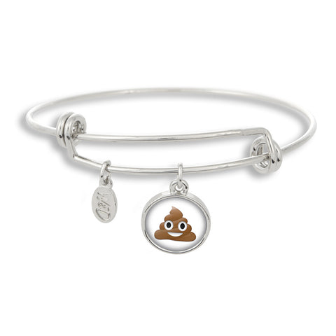 Pile of Pooh Emoji Adjustable Bangle Bracelet