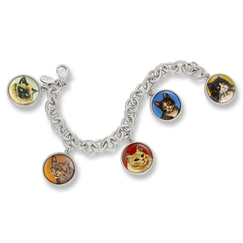 Classic Charm Bracelet featuring Cats