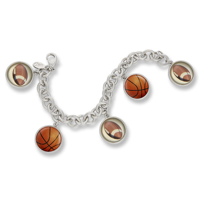Classic Charm Bracelet featuring Football