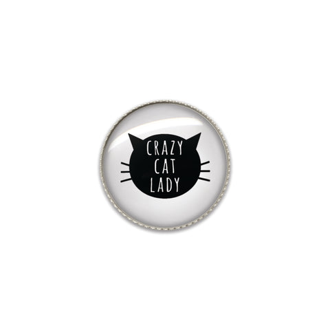 Machine Washable Crazy Cat Lady Sew On Button | Handcrafted USA