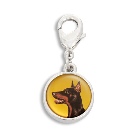 Charm featuring Doberman