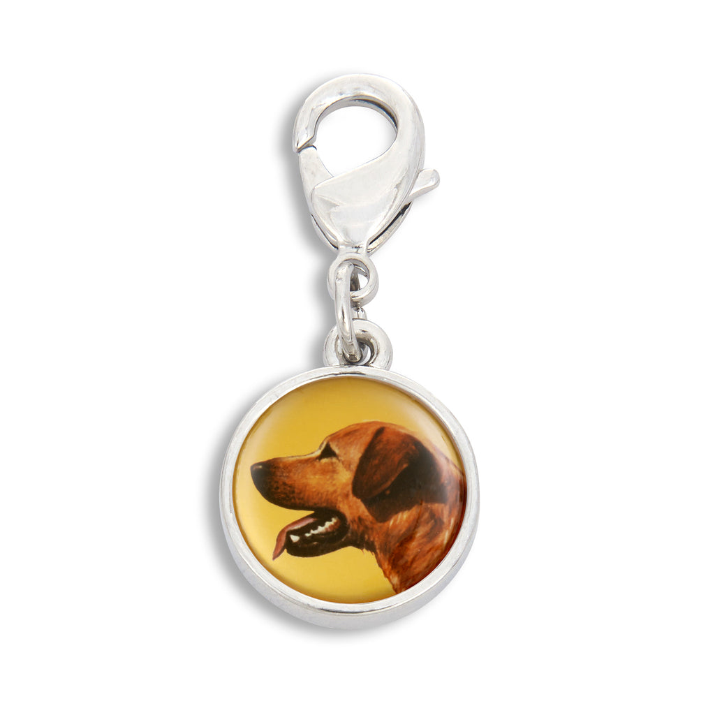 Charm featuring Golden Retriever