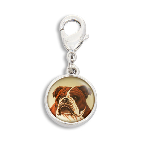 Charm featuring English Bulldog