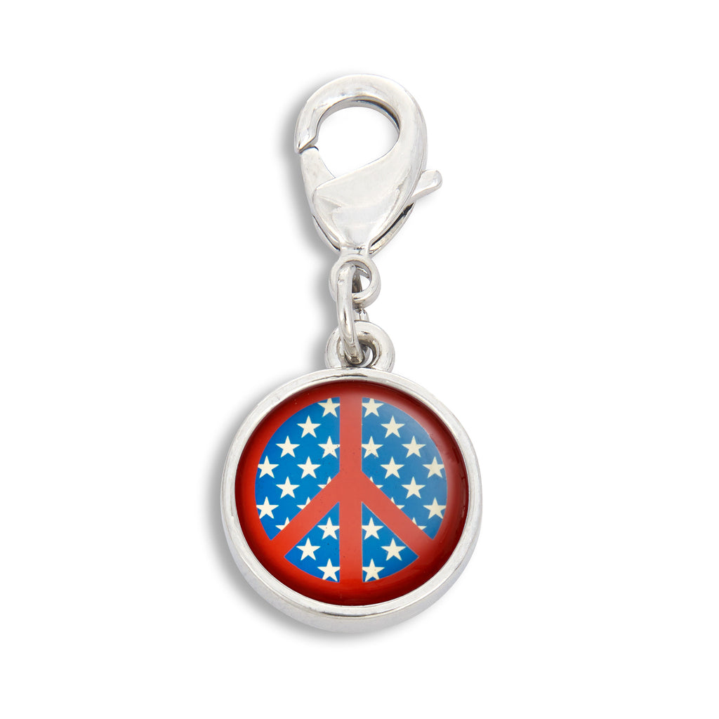Charm featuring Stars & Stripe Peace Sign