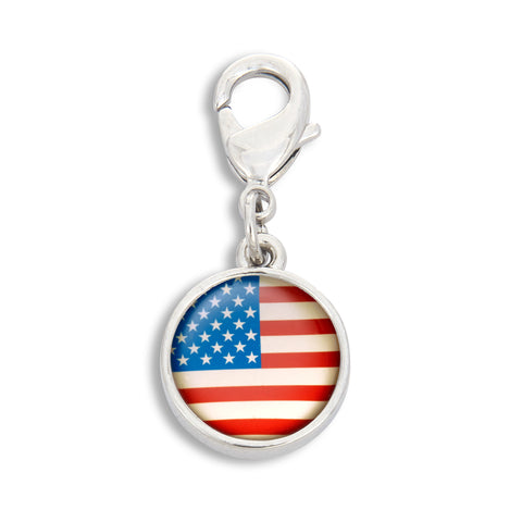 Charm featuring the American Flag