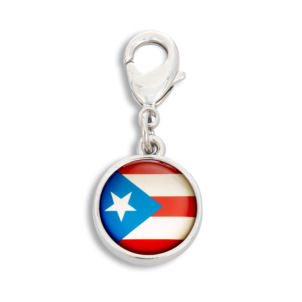 Charm featuring the Puerto Rico Flag