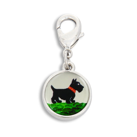 Charm featuring Painted Scottie