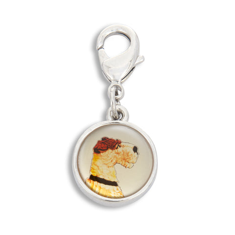 Charm featuring Painted Fox Terrier