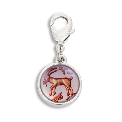 Charm featuring Vintage Astrology Sign Capricorn