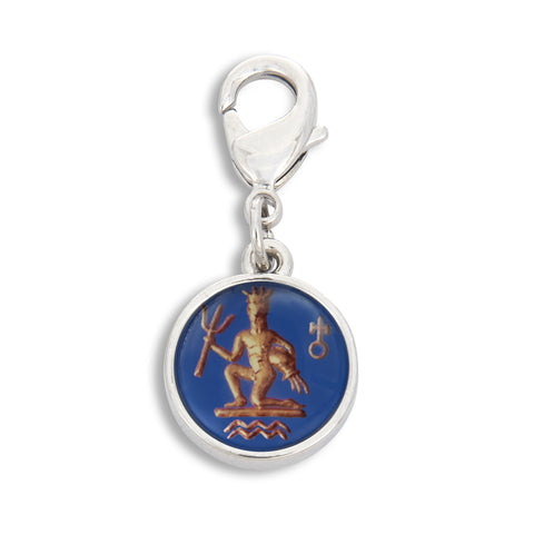 Charm featuring Vintage Astrology Sign Aquarius