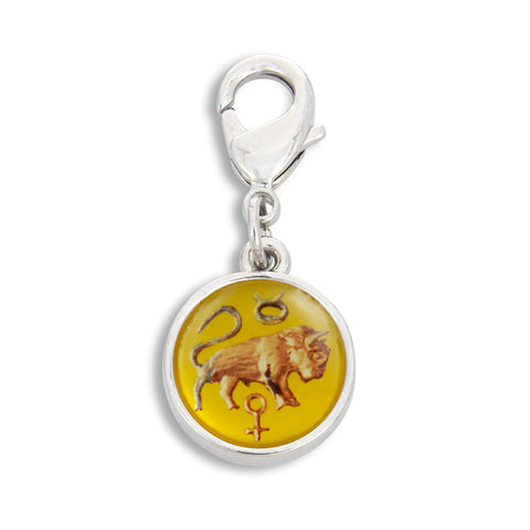 Charm featuring Vintage Astrology Sign Taurus