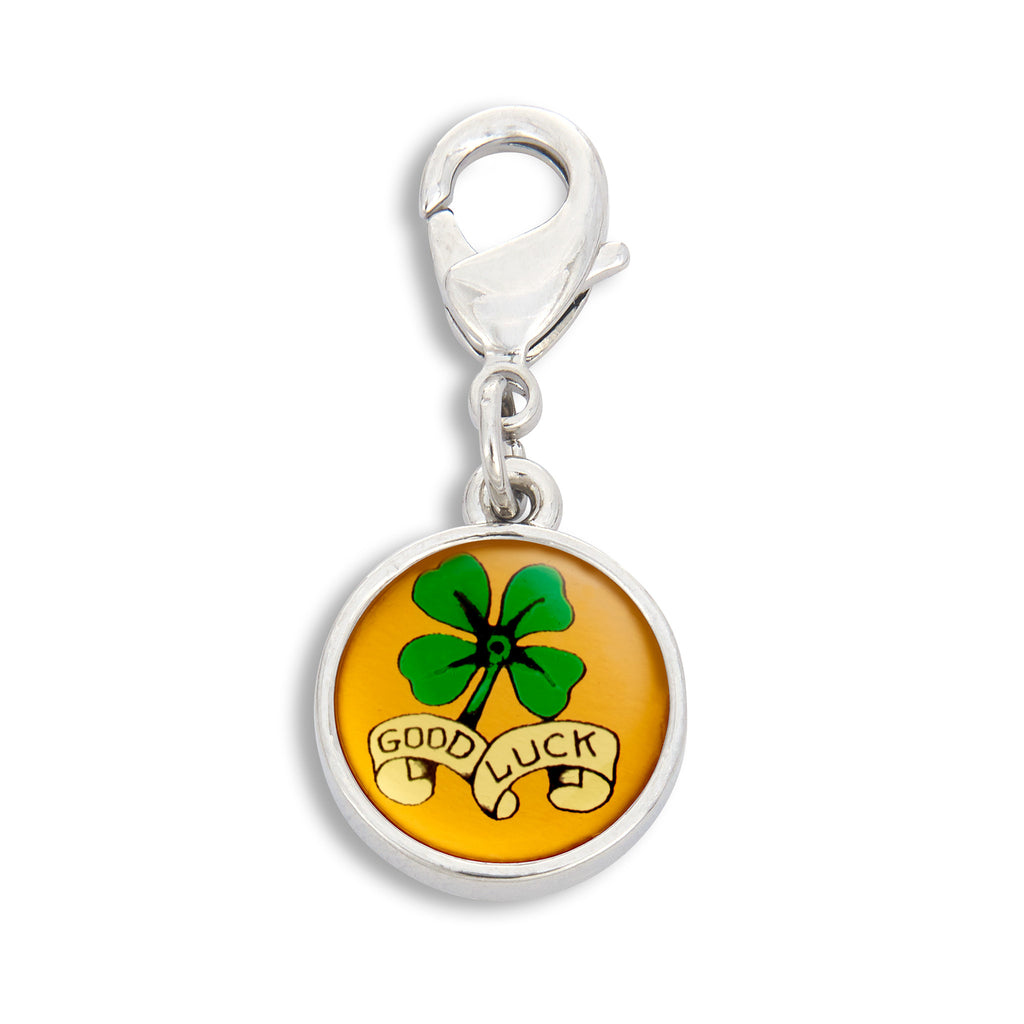 Charm featuring the Good Luck Four-leaf Clover