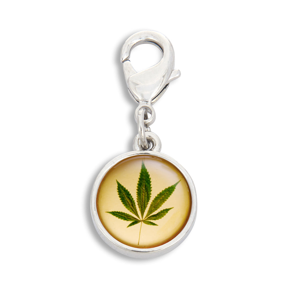 Charm featuring the Cannabis Leaf