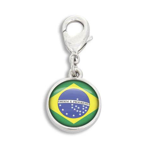 Handcrafted Brazilian Flag Charm