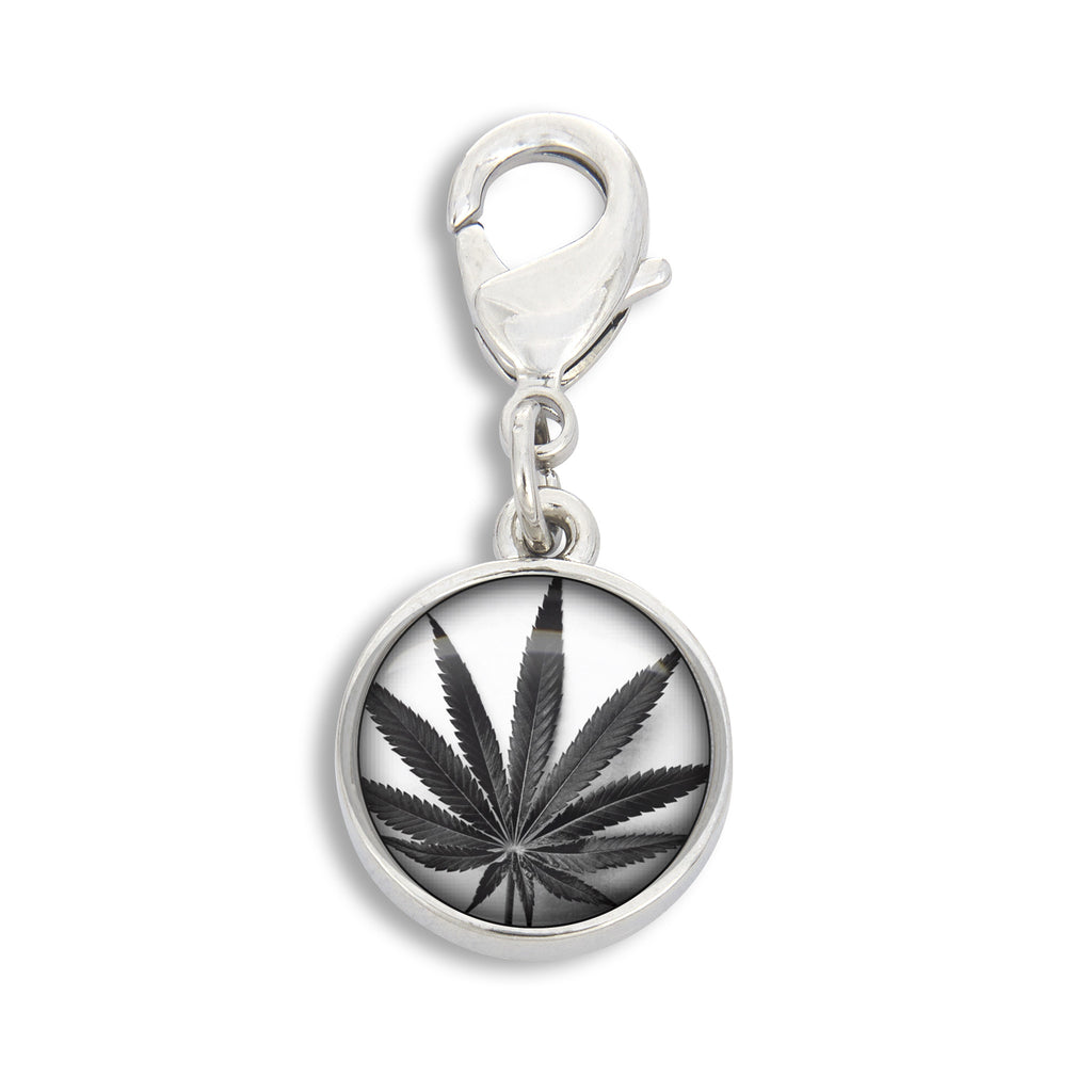 Cannabis Icon-O-Pop Brights Collection Charm (Wet Black on Bright White)