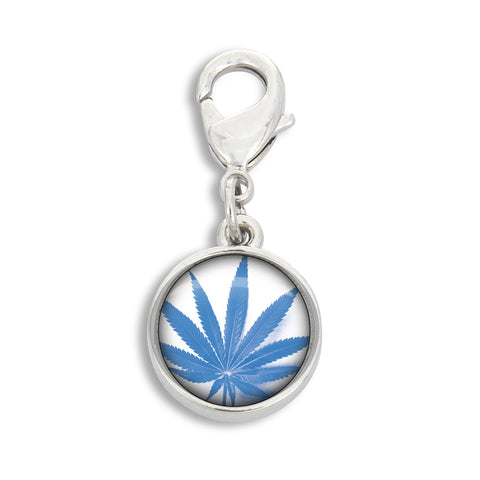 Cannabis Icon-O-Pop Brights Collection Charm (Blue - Turquoise on Bright White)