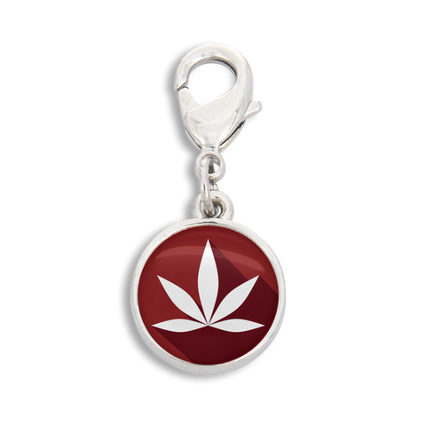 Cannabis Icon-O-Pop Collection Charm (Marijuana Deep Red)