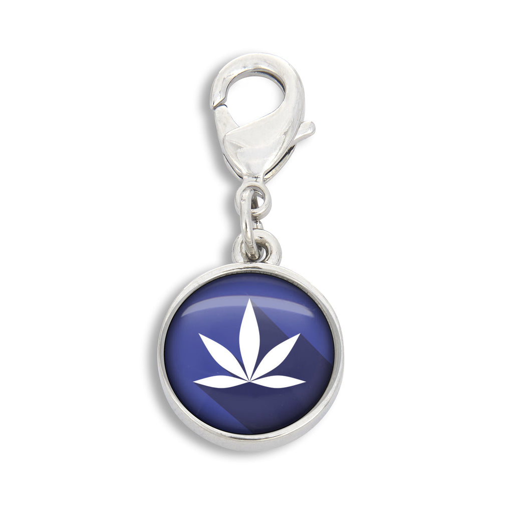 Cannabis Icon -O- Pop Blue Charm
