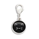 Machine Washable Cat with Heart Nose Zipper Pull | Handcrafted USA