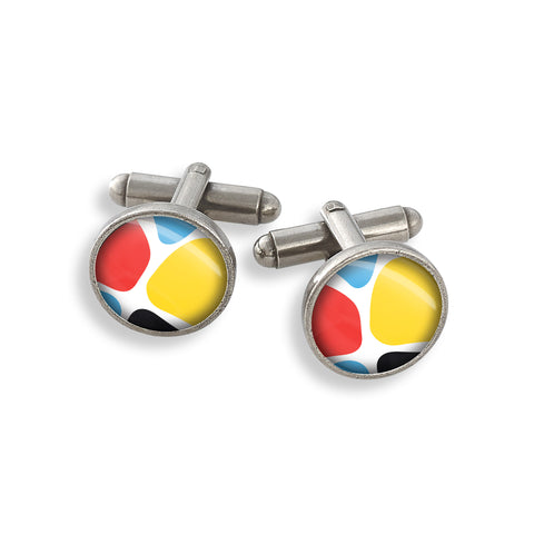 Pewter Cufflink Set featuring the Zoolander CMYK Giraffe
