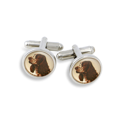 SilverTone Cufflink Set featuring the Pit Bull