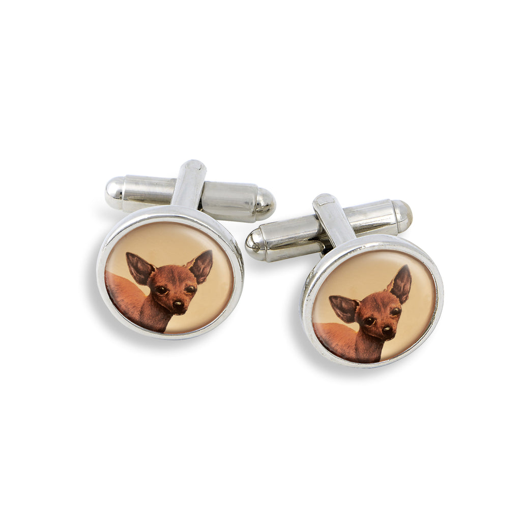 SilverTone Cufflink Set featuring the Dalmation