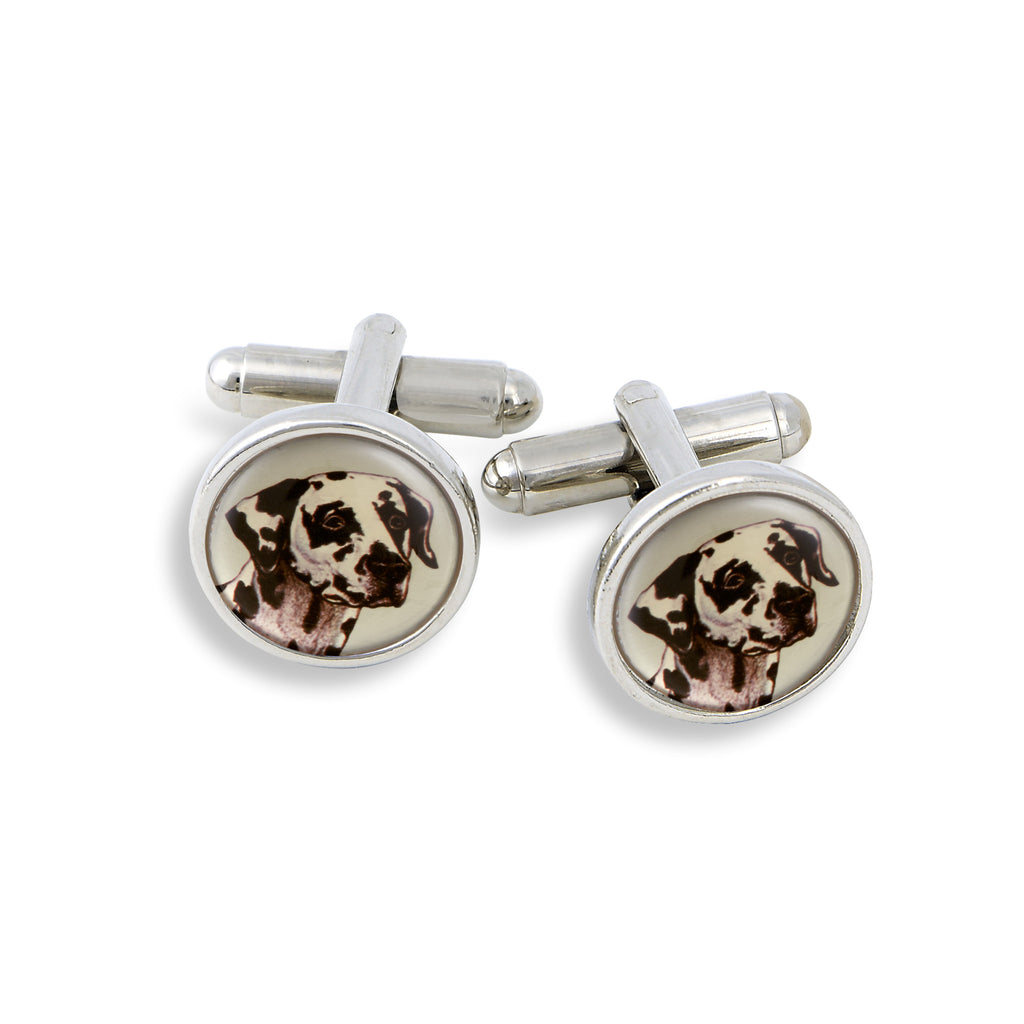 SilverTone Cufflink Set featuring the Cat