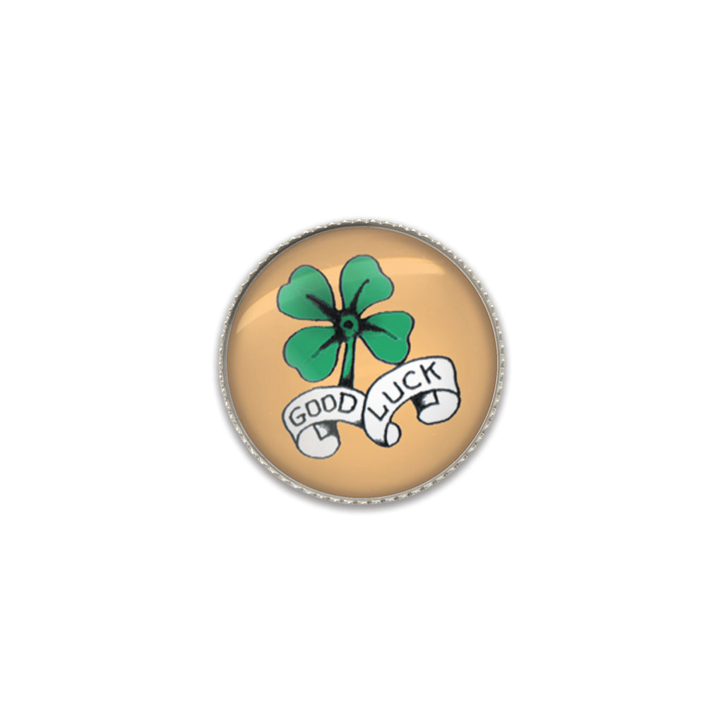 Machine Washable Vintage Style Good Luck Shamrock Sew On Button | Handcrafted USA