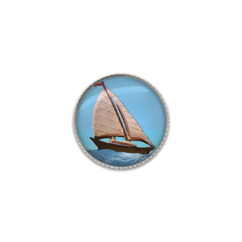 Machine Washable Sailing Sew On Button | Handcrafted USA