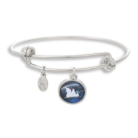Christmas Santa Bangle Charm Bracelet | Handcrafted USA
