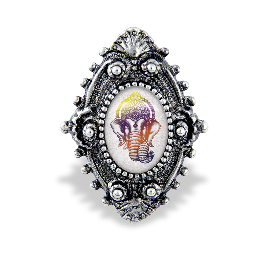 Ganesh Filigree Ring Handcrafted USA