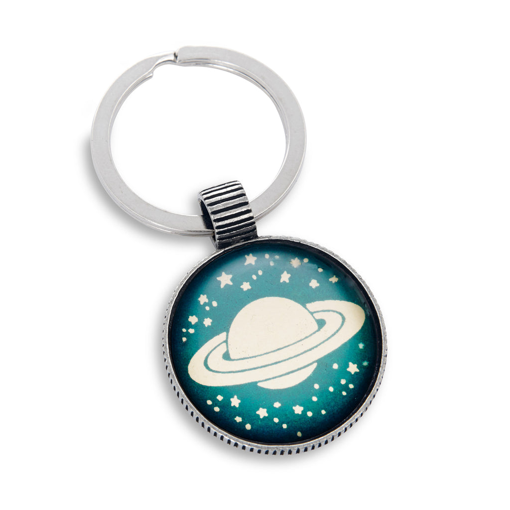 Keyring featuring Saturn