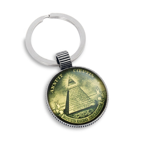 Keyring featuring Dollar Pyramid