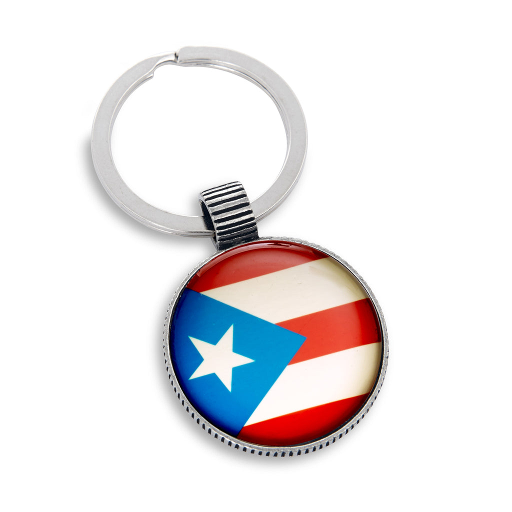 Keyring featuring the Puerto Rico Flag