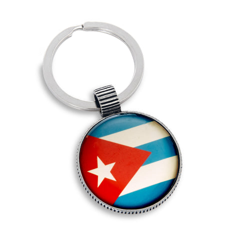 Keyring featuring the Cuba Flag