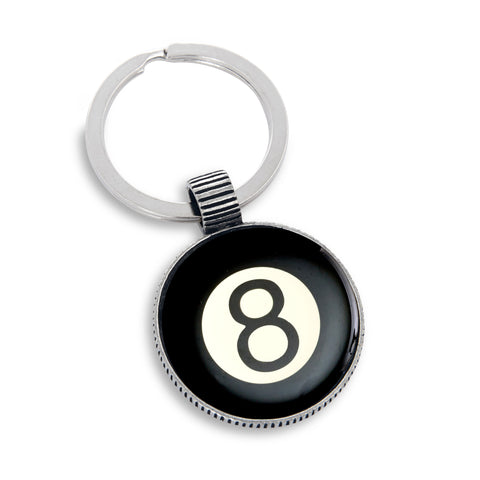Keyring featuring the 8-ball