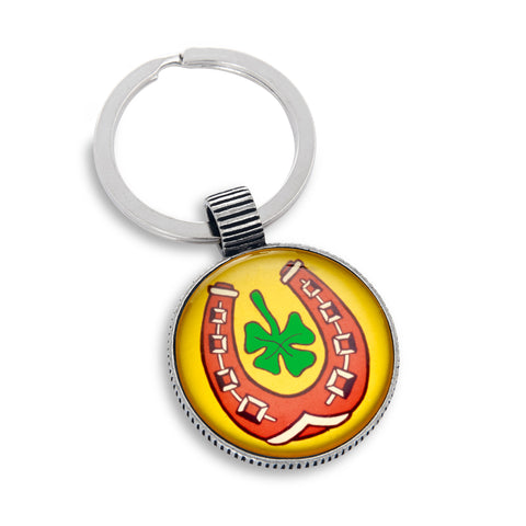 Keyring featuring the Lucky Horseshoe
