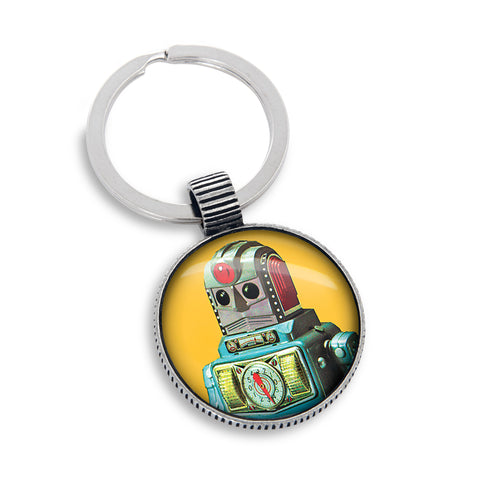Keyring featuring the Yellow Robot
