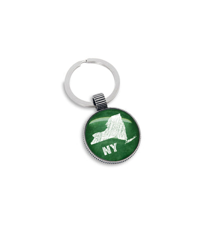 Keyring featuring the Chalkboard State of New York
