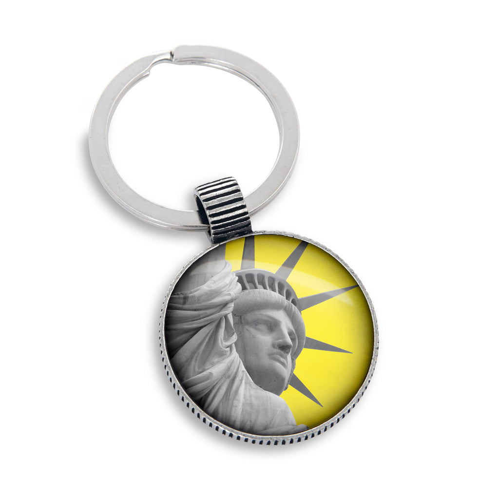 Keyring featuring the Yellow Belly Statue of Liberty
