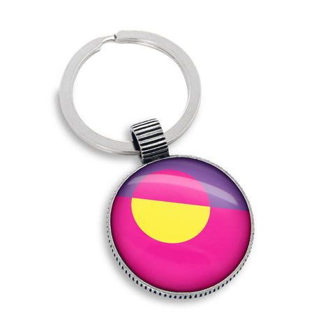 Keyring featuring the In Living Color Pink, Yellow & Purple Circles