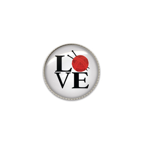 Machine Washable Love Knitting Sew On Button | Handcrafted USA