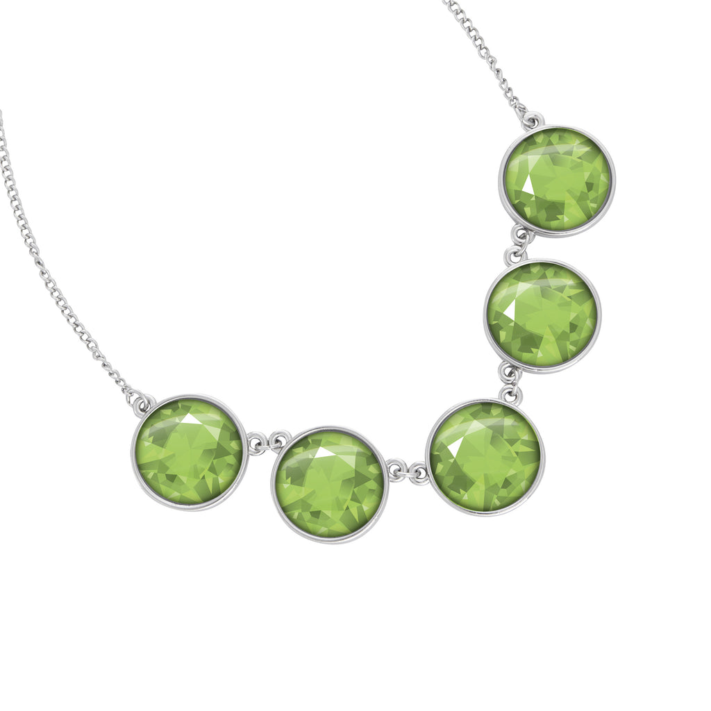 August Birthstone Statement Choker Necklace - Handcrafted USA